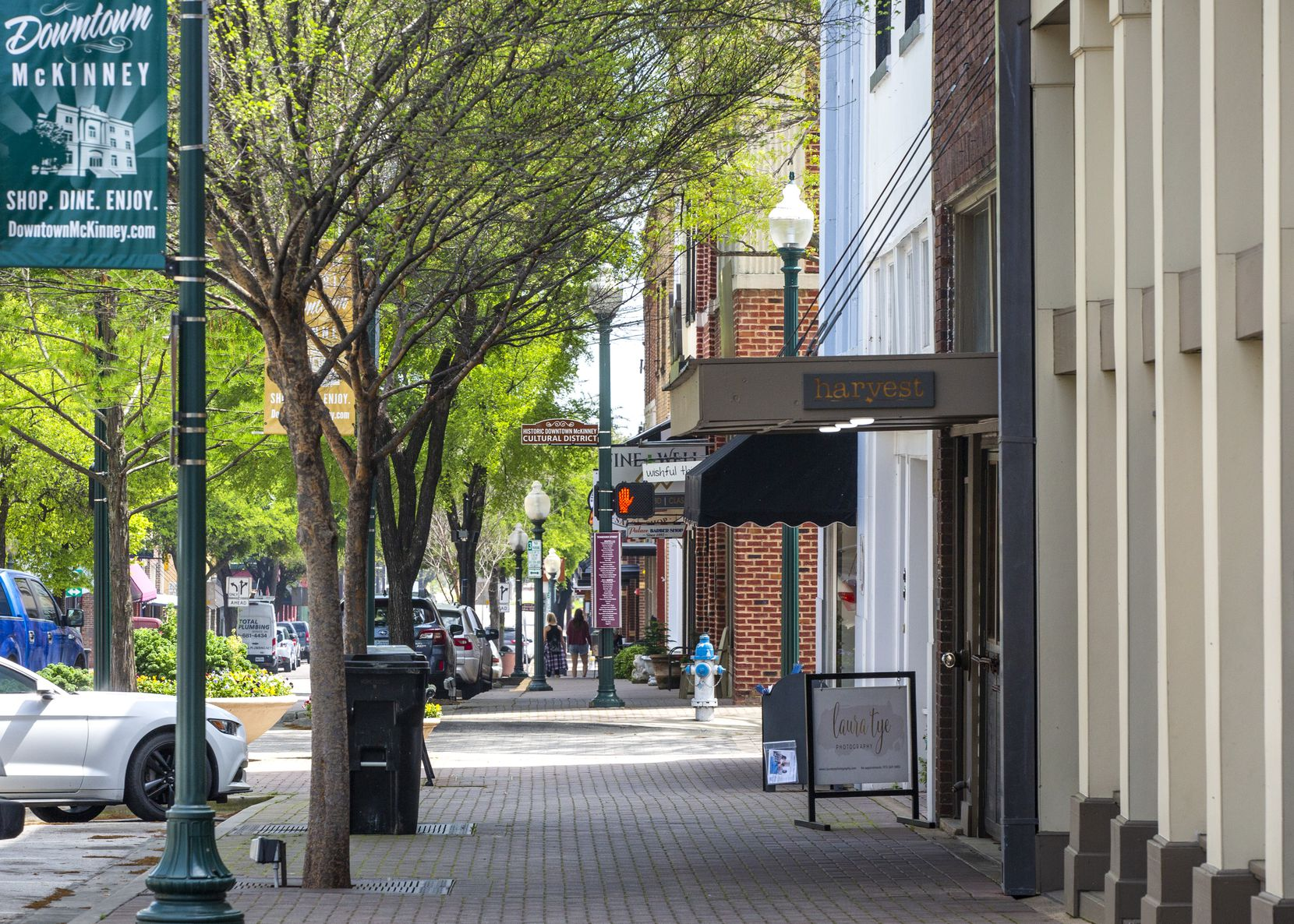 In downtown McKinney, what would typically be a bustling scene looked more akin to a ghost town on Thursday, March 26, 2020, as customers had become scarce amid the coronavirus pandemic.