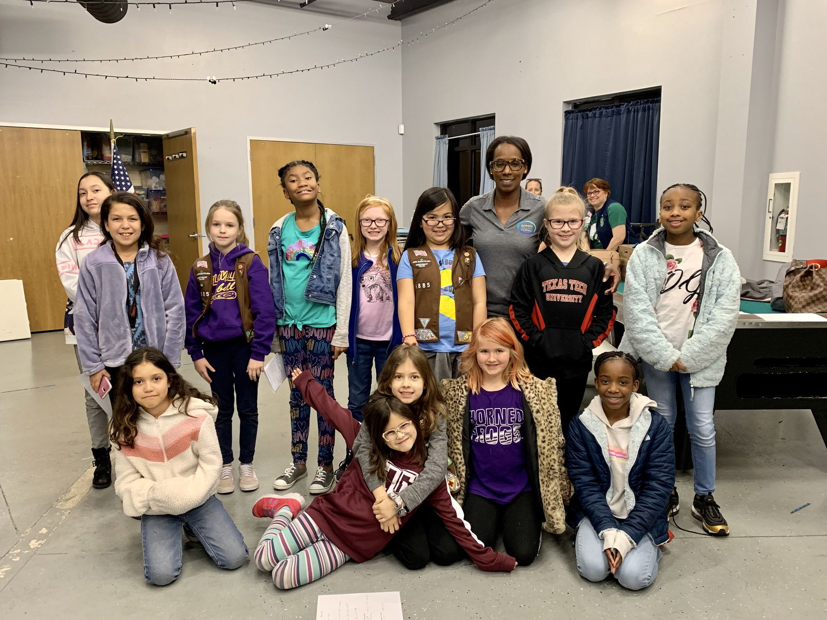 "This Grand Prairie Girl Scouts troop invited a school counselor to talk with them about mental health and show them how to make ""calm down"" kits. Thls was part of their Okay to Say patch work and the photo was taken last winter, prior to the pandemic closing down in-person Scout meetings."