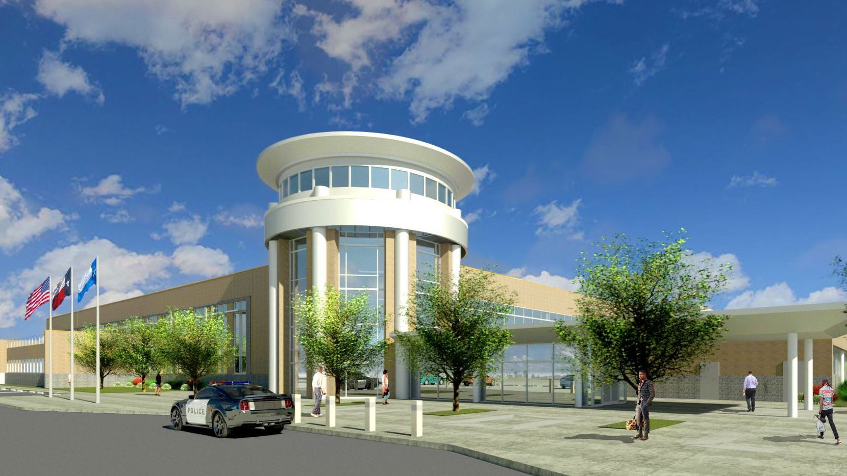 The Dallas County South Government Center is pictured in this rendering.
