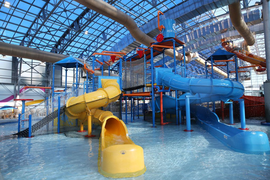 Interior of the new Epic Waters Indoor Waterpark in Grand Prairie, Texas on Monday, Jan. 8, 2018. The city-owned waterpark is the largest in North America under a single retractable roof. (Rose Baca/The Dallas Morning News)