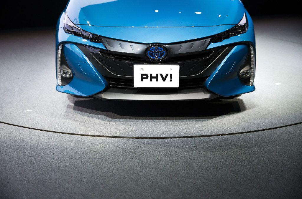 Toyota Motor Corp.'s new Prius plug-in hybrid vehicle. (Tomohiro Ohsumi/Bloomberg)