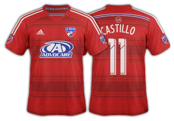 2014-15 FC Dallas red on red hoops primary.