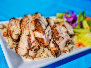 Renee's Jerk Chicken is located in the parking lot of In-Fretta Pizza and Wings in Plano at 5588 Texas Highway 121, Suite 300.