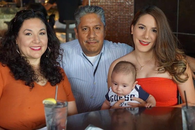 Raul Rosales, his wife Claudia, left, daughter Monica and grandson Matias. Raul Rosales passed away April 21, 2020, in El Paso while being treated for COVID-19.