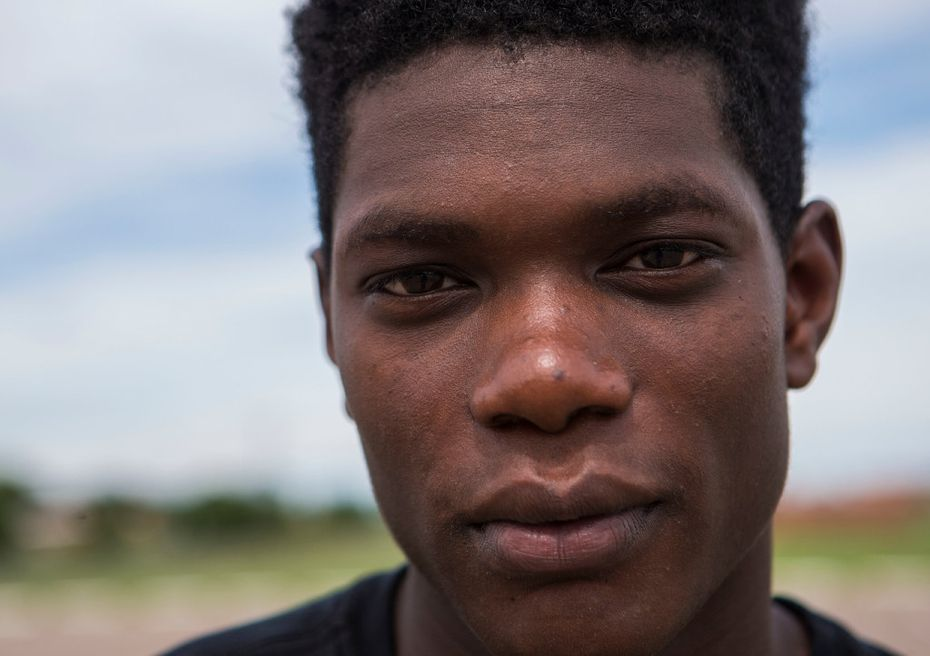 Osa Elaiho, 16, played football with Jordan Edwards. (Ryan Michalesko/Staff Photographer)