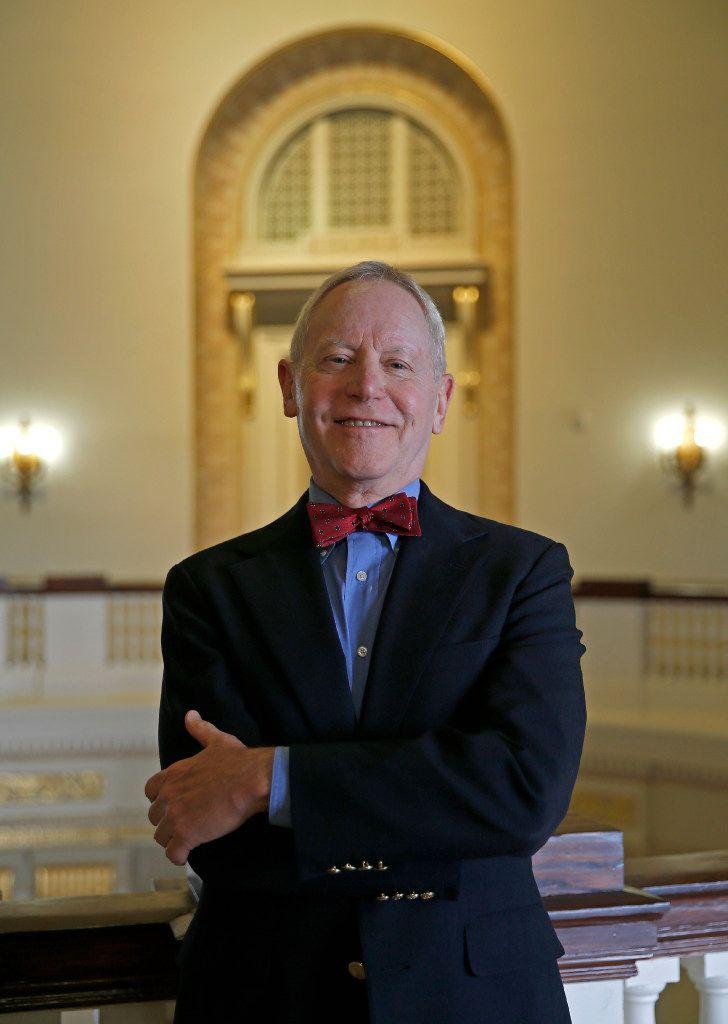 Professor Willard Spiegelman  on the SMU campus in September.