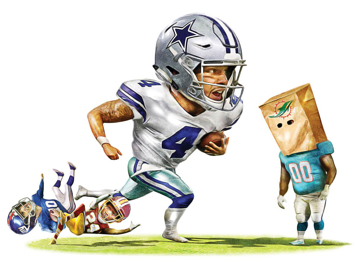The Cowboys are on the verge of 3-0 and probably aren't getting the respect they've earned because of a soft schedule.(Michael Hogue / Staff Artist)