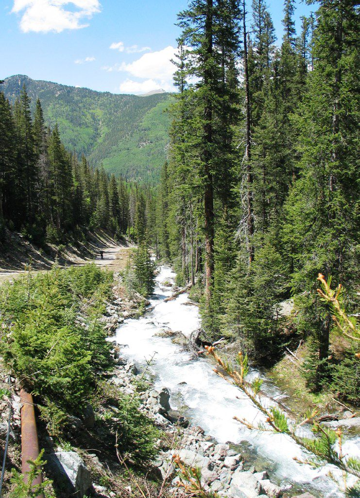 Cascades are familiar sights when hiking on mountain trails.