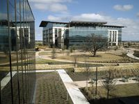 A view of the campus at Charles Schwab's new headquarters in Westlake, Texas on Tuesday, February 25, 2020.