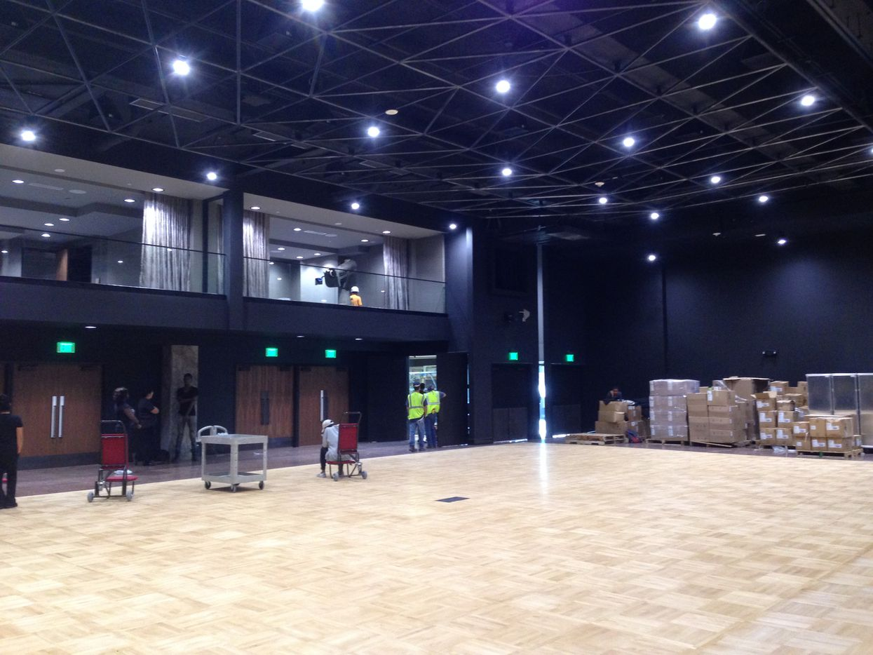 The grand ballroom in the Statler Hotel will be finished in November.