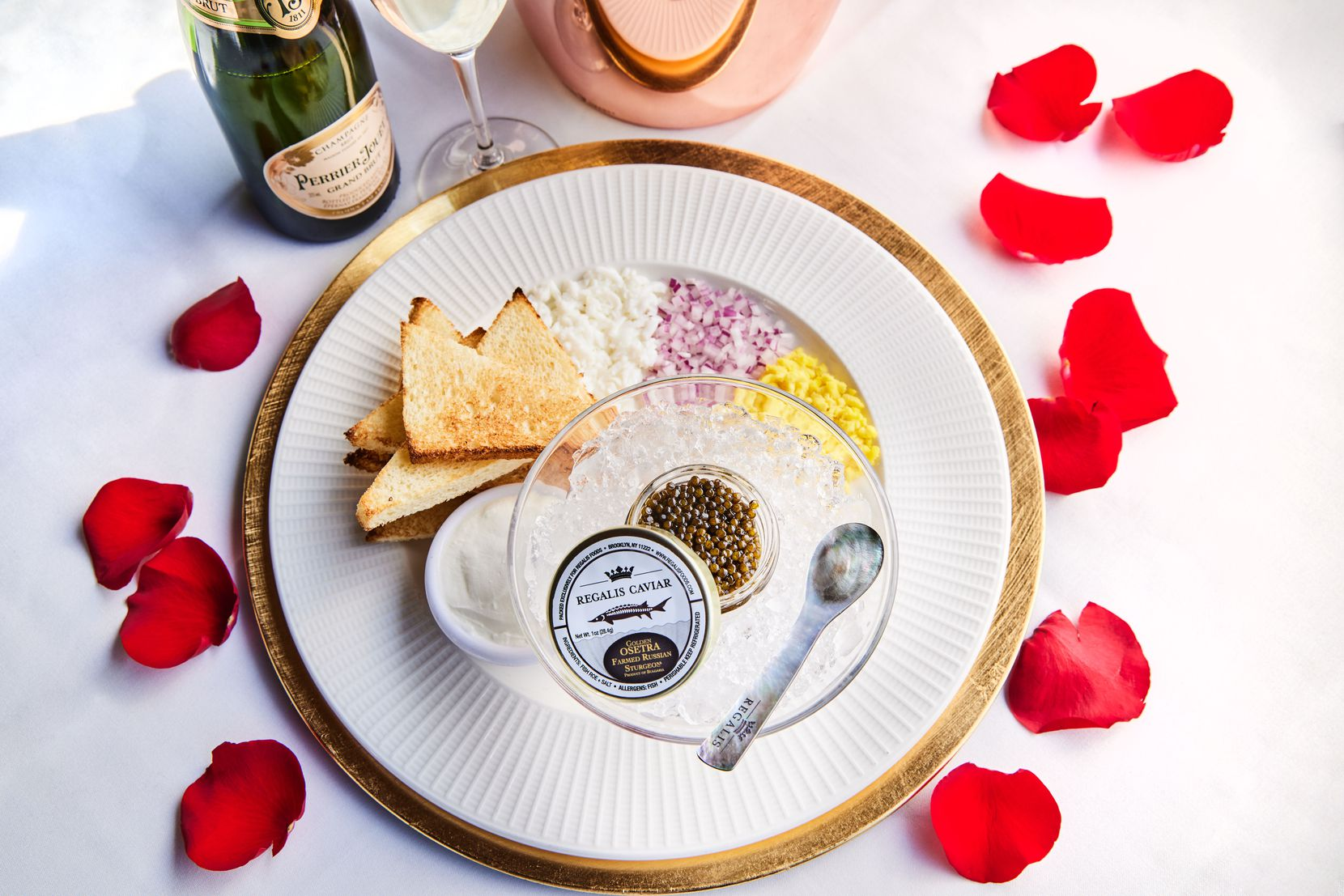 Al Biernat's offers the Premium Osetra Caviar Package as part of its Valentine's Day offerings this year.