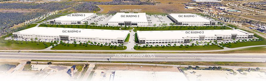 The new Gateway Logistics Center is on U.S. Highway 183.