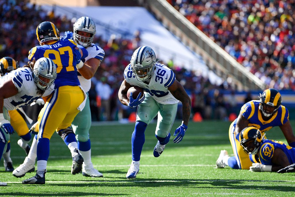 HONOLULU, HAWAII - AUGUST 17: Tony Pollard #36 of the Dallas Cowboys runs his way to the endzone during the preseason game against the Los Angeles Rams at Aloha Stadium on August 17, 2019 in Honolulu, Hawaii. (Photo by Alika Jenner/Getty Images)