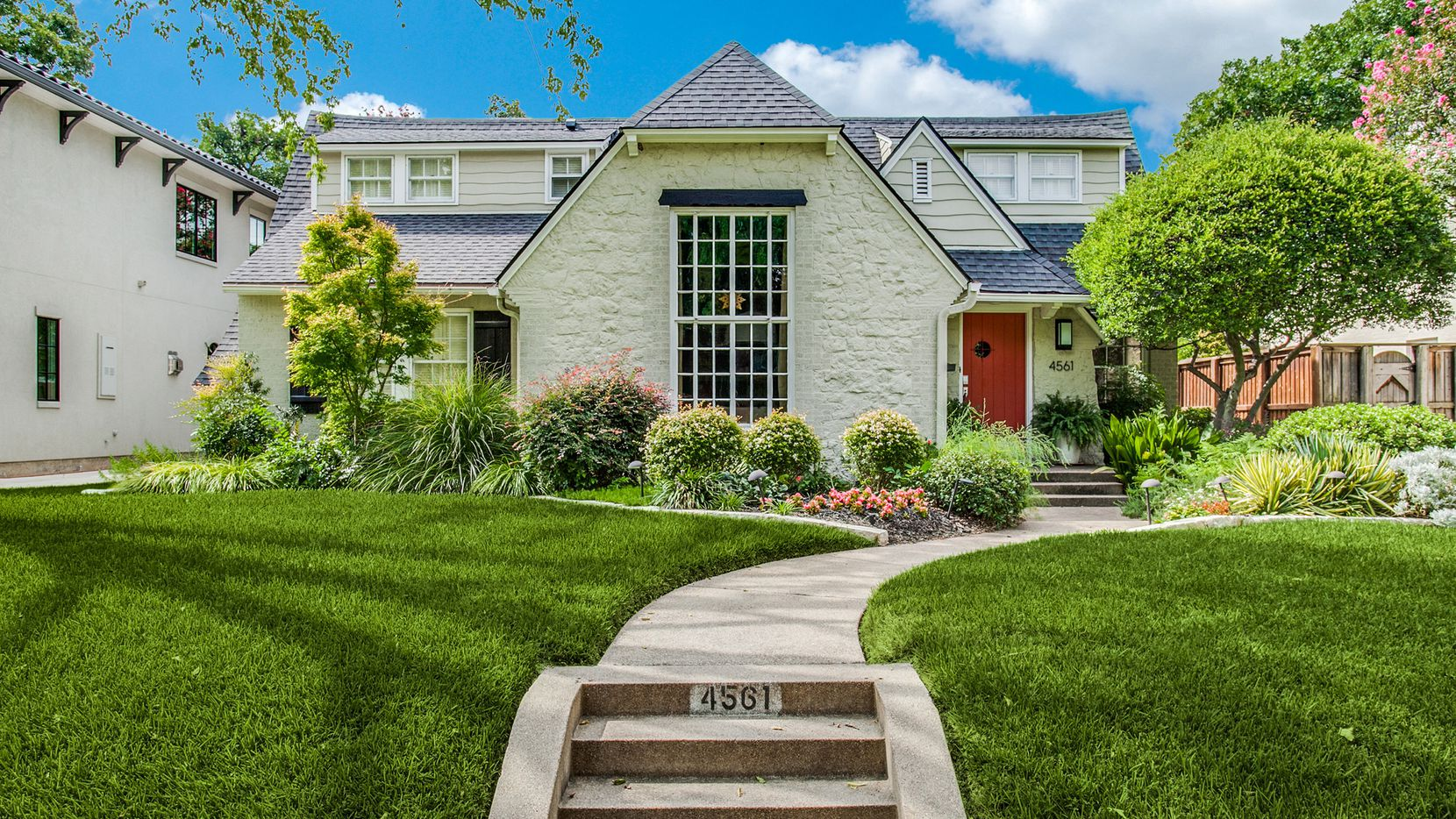 The four-bedroom home at 4561 Belclaire Ave. in Highland Park features an updated design and is being marketed by Richard Graziano.
