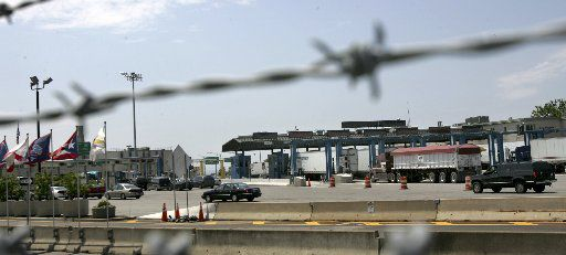 Motorists enter the United States from Canada at the border at the Peace Bridge in Buffalo, N.Y.