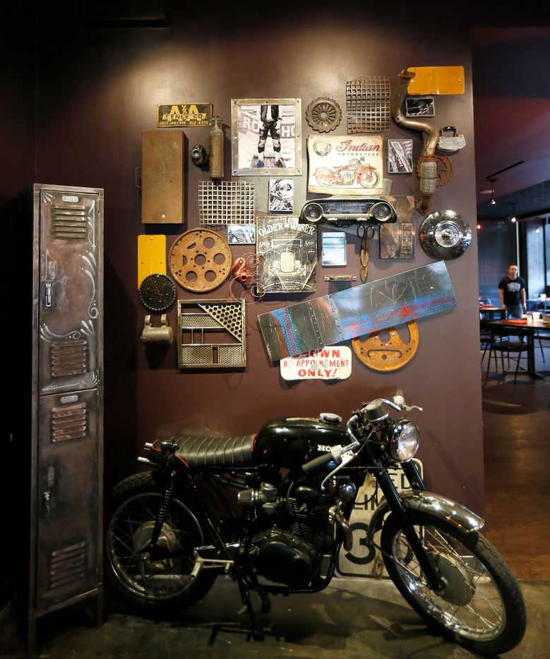 A bike is part of an interior at the Tortaco restaurant in Dallas, Thursday, Nov. 17, 2016. (Jae S. Lee/The Dallas Morning News)