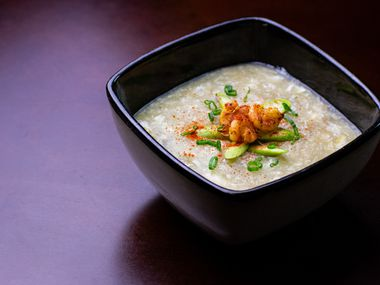 Shrimp Asparagus Soup at Krio by Connie Cheng