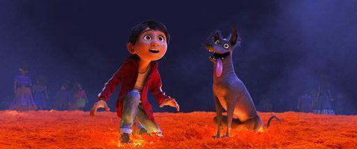 Miguel y su perro Dante. Disney Pixar