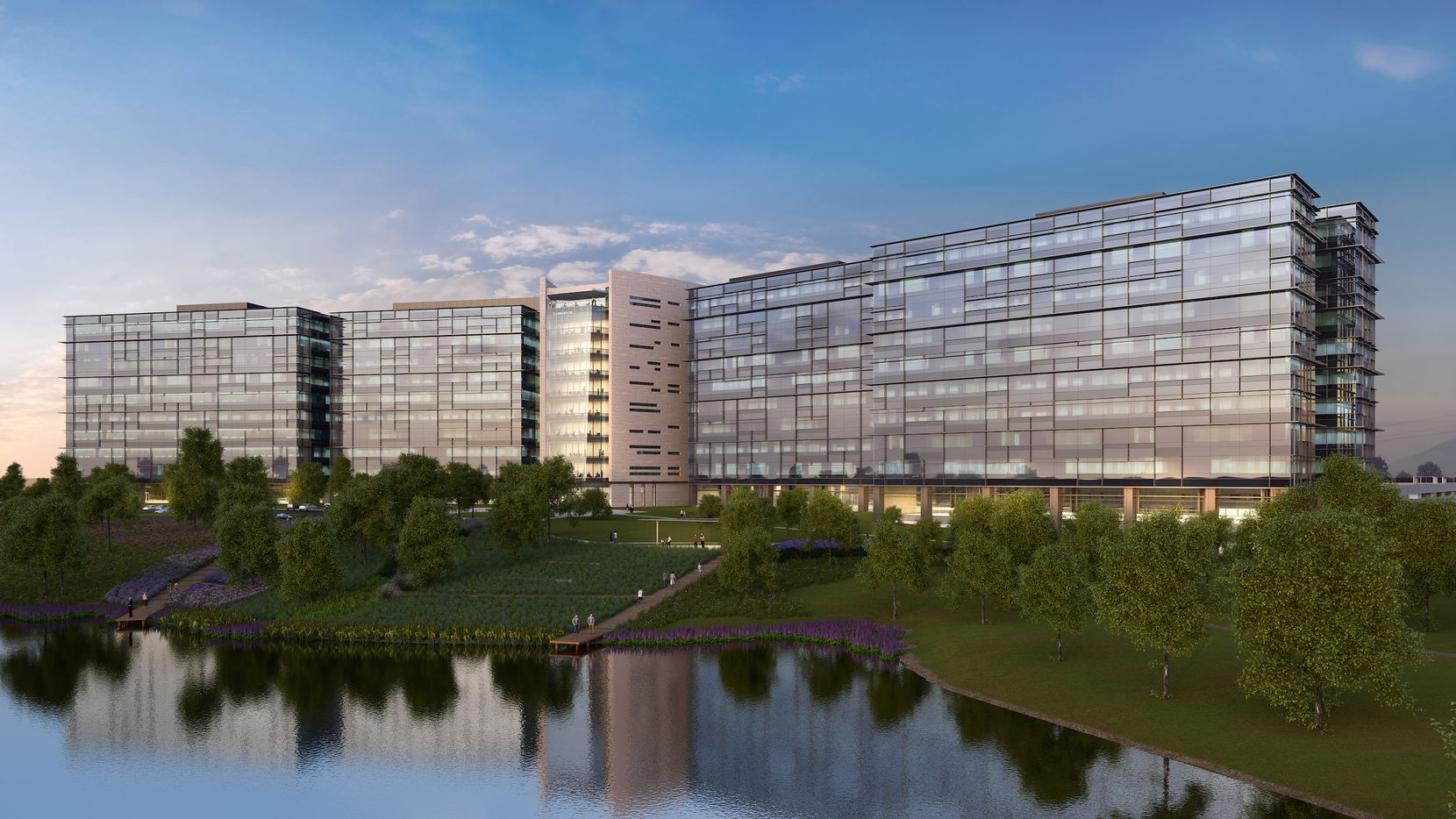 Pioneer Natural Resources' new office campus in Irving will be built on one of the city's highest points.