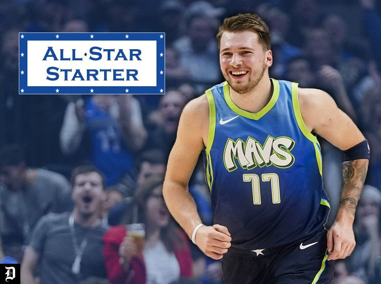 Dallas Mavericks guard Luka Doncic celebrates after throwing down a dunk against the San Antonio Spurs at American Airlines Center on Thursday, Dec. 26, 2019, in Dallas.