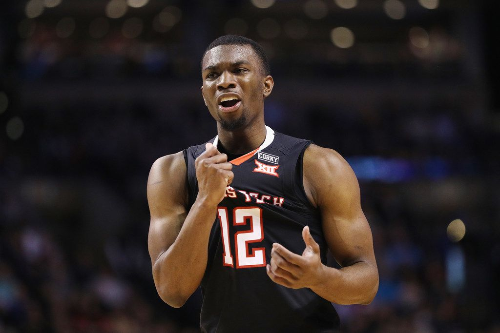 BOSTON, MA - MARCH 25:  Keenan Evans #12 of the Texas Tech Red Raiders reacts during the second half against the Villanova Wildcats in the 2018 NCAA Men's Basketball Tournament East Regional at TD Garden on March 25, 2018 in Boston, Massachusetts.  (Photo by Maddie Meyer/Getty Images)