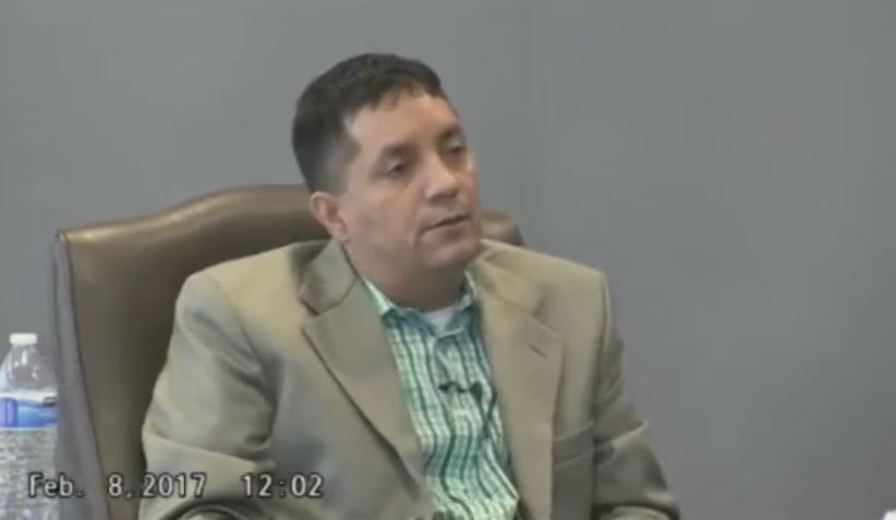 Jorge Garcia of Cedar Hill ran House of Tomorrow roofing company that left almost 100 homeowners, probably many more, without roofs. A lawsuit says the company took insurance money from customers but didn't deliver. Here, he's shown in his February 2017 deposition in which he expressed his sorrow but said he couldn't help the victims.