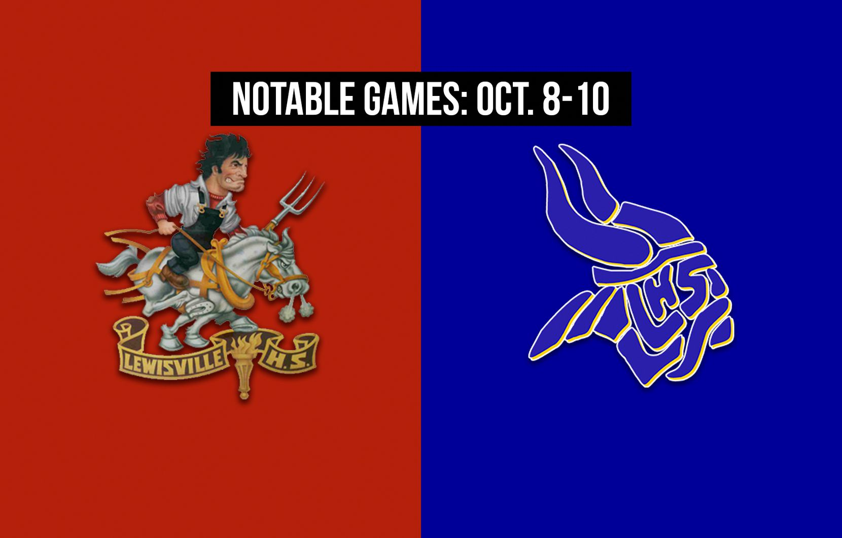 Notable games for the week of Oct. 8-10 of the 2020 season: Lewisville vs. Arlington Lamar.