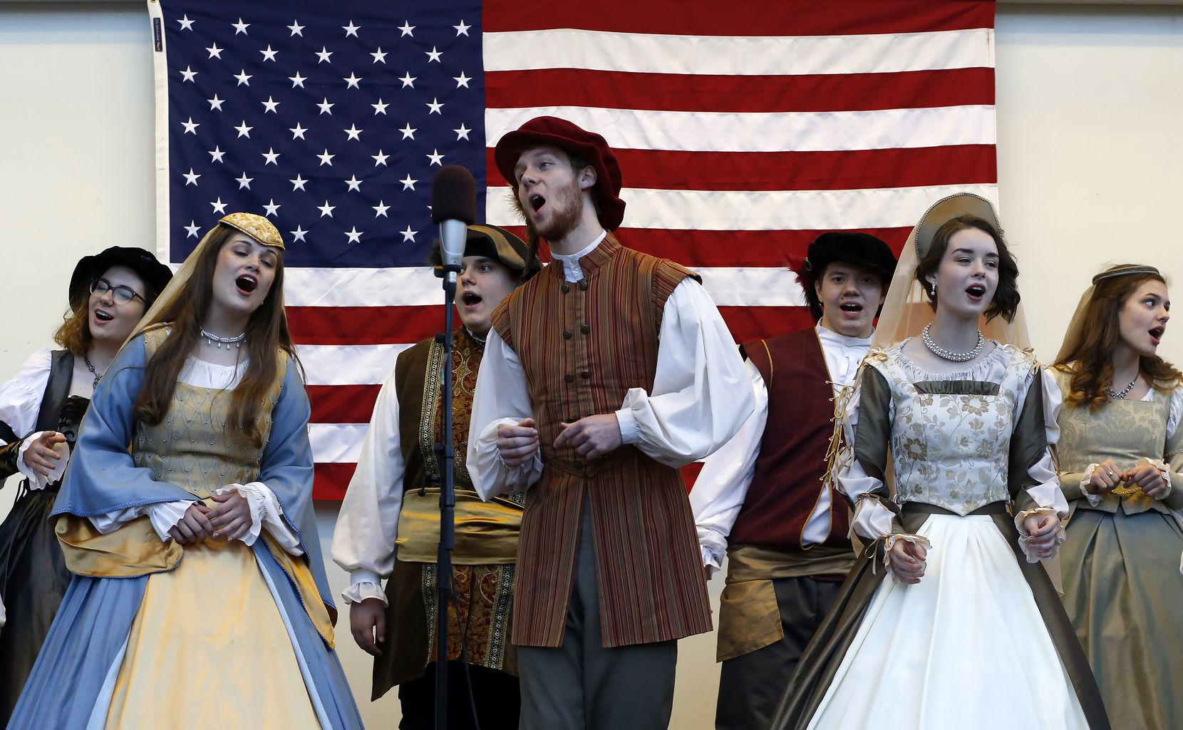 The Dickens in Downtown Plano festival includes carolers in costume.