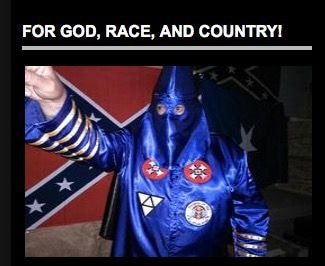 """A photo above contact information for """"Imperial Wizard Killer"""" on the Texas Rebel Knights' webpage."""
