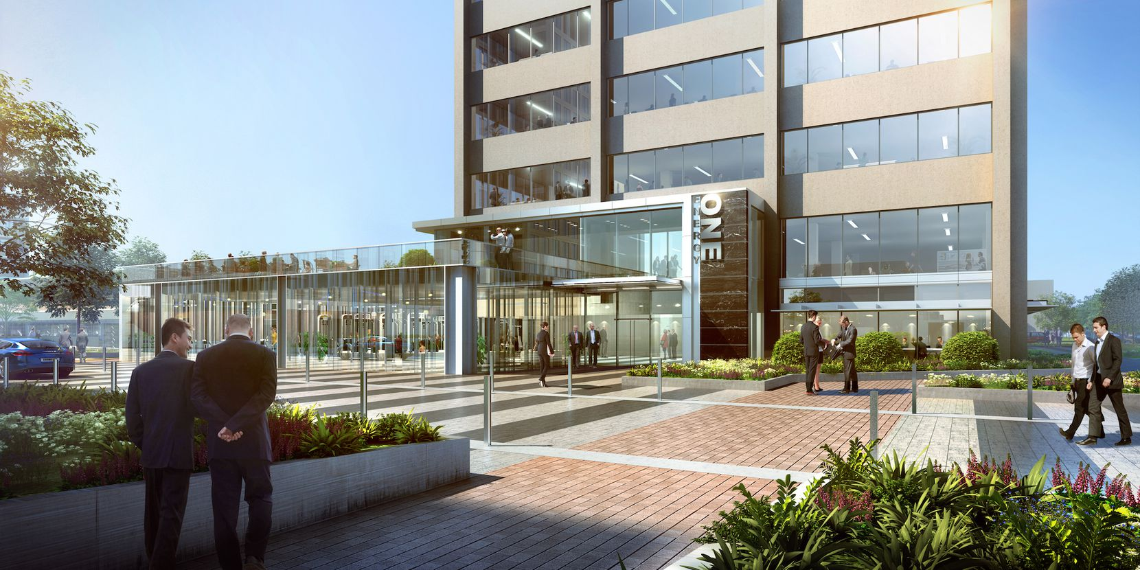 The Energy Square office buildings will get new entrances and lobby areas.