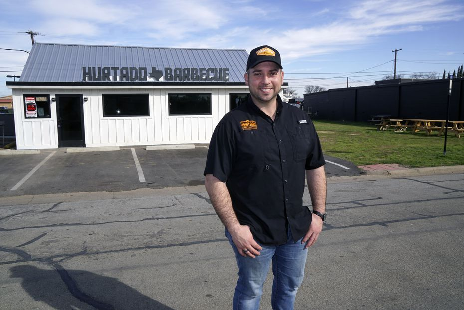 Over Brandon Hurtado's shoulder, on the grass: That's where fans would eat Hurtado Barbecue for the past few months. After some construction delays, the indoor restaurant opens officially on Saturday, Feb. 22, 2020.