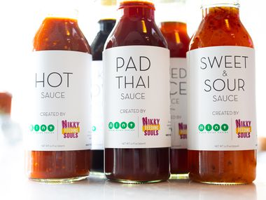 Thai sauces and chili crisp are from Nikky Feeding Souls, from Nikky Phinyawatana of Asian Mint restaurants.