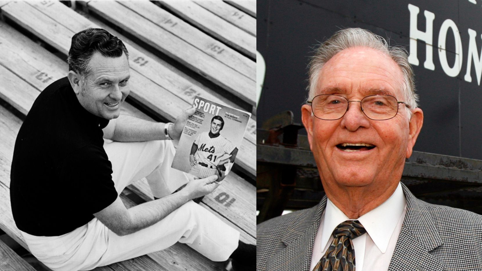 An undated file photo of Homer B. Johnson (left) and a photo of him in 2007.