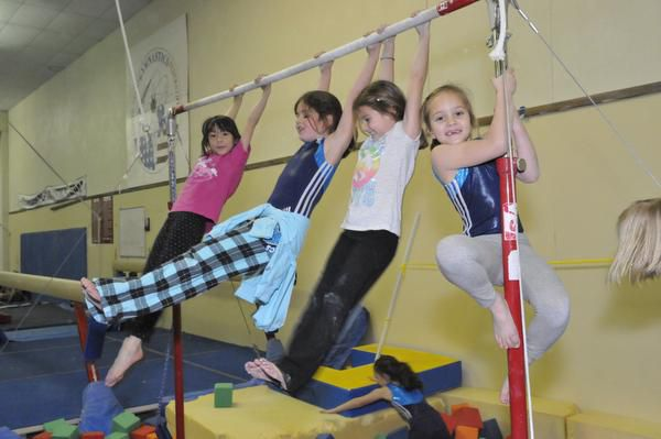 Students in a class at the Richardson Gymnastics Center.