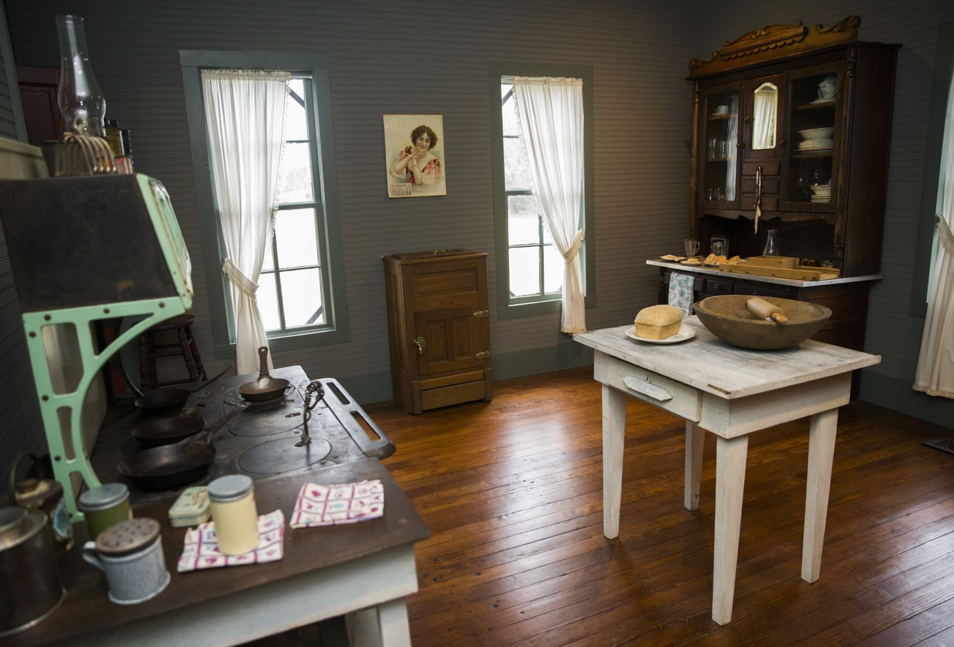 The kitchen inside the Lawrence House is part of the original three rooms built in 1874 and one of the areas that all Mesquite third-graders tour each year.