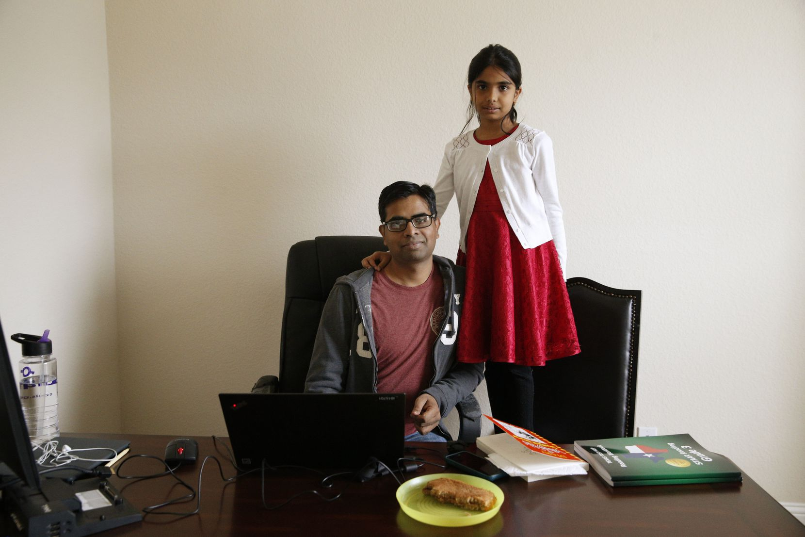 Parag Bakde, a H-1B visa holder who lives in Frisco, is stuck in the green card backlog. His daughter, Riddhi was three-months-old when he moved to the U.S. on an H-1B visa. She's now a third grader who likes to read books and make models of the solar system in her third grade science class.