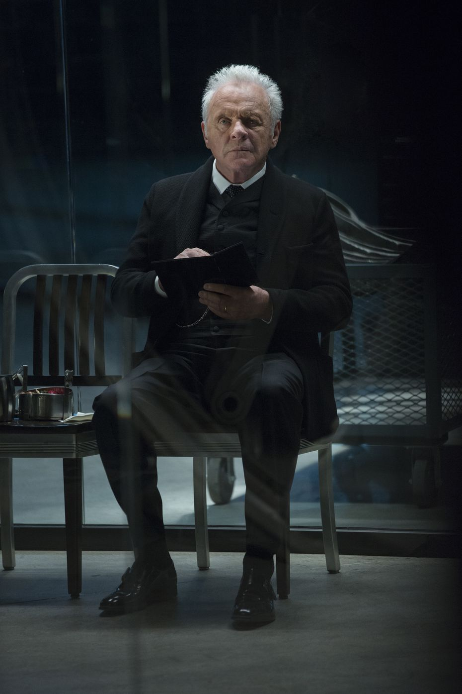 Anthony Hopkins as Dr. Robert Ford (or, for our purposes, God)
