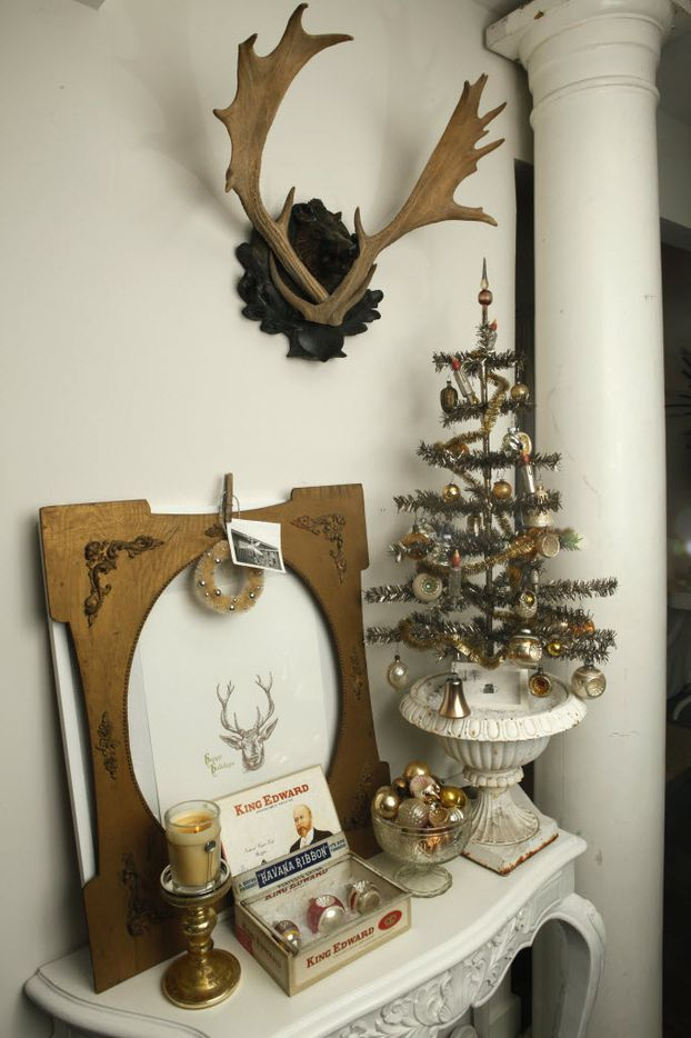 Vintage Christmas decorations collected by Jason McDaniel are displayed at his home in Dallas, Wednesday, Dec. 8, 2010.
