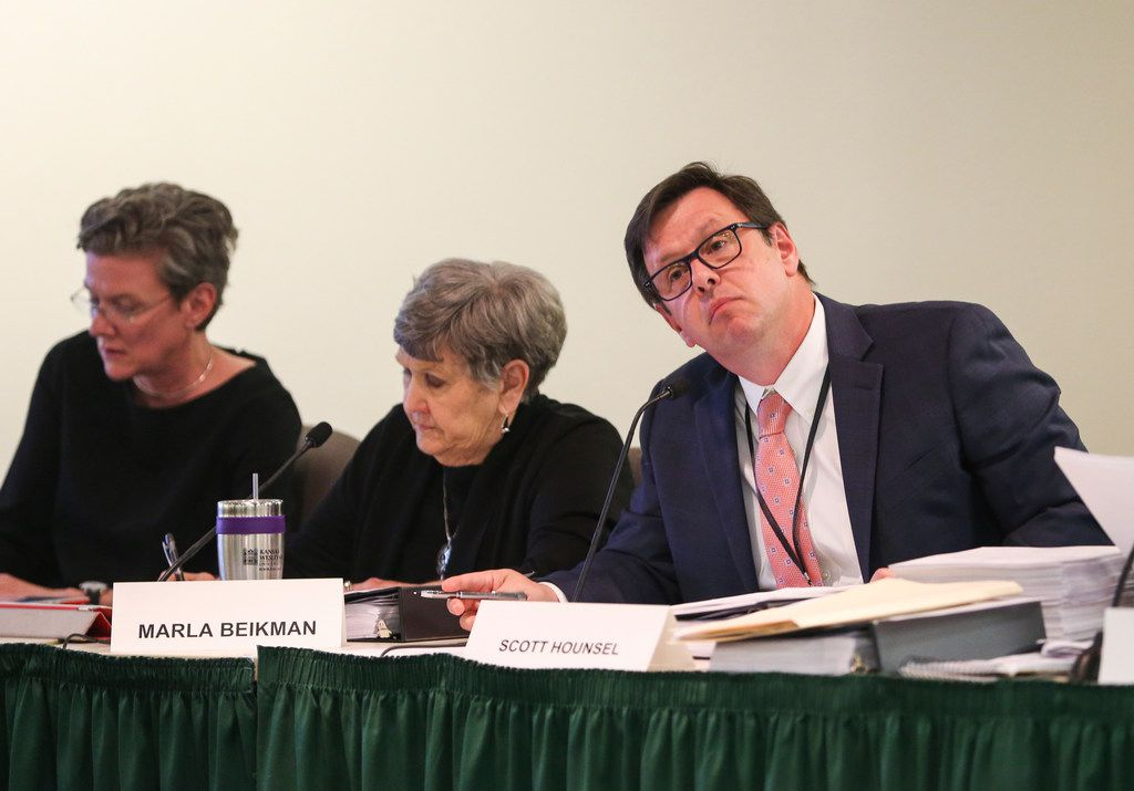 Chairman Scott Hounsel listens to testimony during a meeting of the Board of Adjustment on Wednesday.
