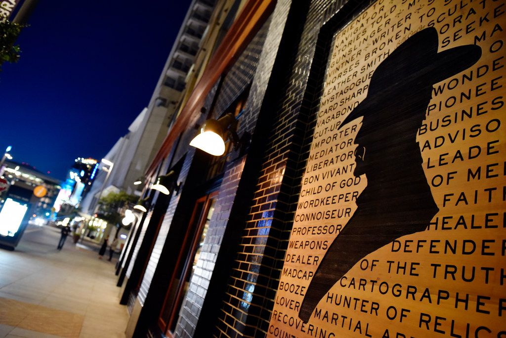 A piece of art work of Billy Can Can on display outside of  new restaurant Billy Can Can at Victory Park in Dallas, Saturday evening, June 16, 2018. Ben Torres/Special Contributor