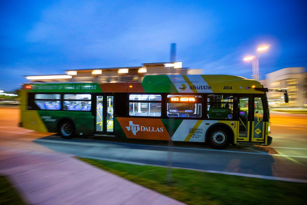 In 2008, the University of Texas at Dallas had no bus service. Now, it has hundreds of riders each day -- mostly on the connector route from Richardson's CityLine, which is serviced by a north-south light rail connection to the rest of the DART system.