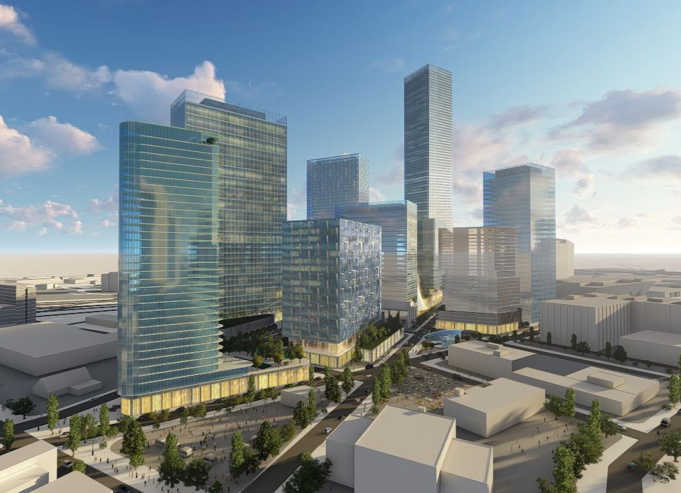 The proposed Dallas Smart District could contain 8 million square feet of buildings.