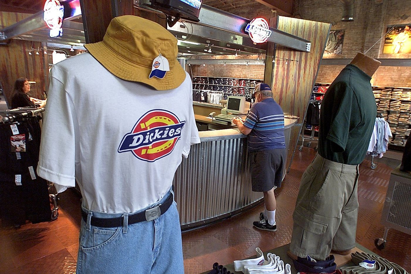 The Williamson-Dickie outlet store in Fort Worth has a newly renovated look on Thursday July 11, 2002.