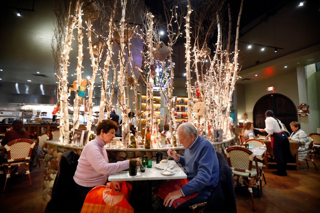 Chuck and Sherril Anderson of Fort Worth dine at Rise No. 3 restaurant in The Shops at Clearfork development in Fort Worth, Texas, Thursday, January 4, 2018. (Tom Fox/The Dallas Morning News)