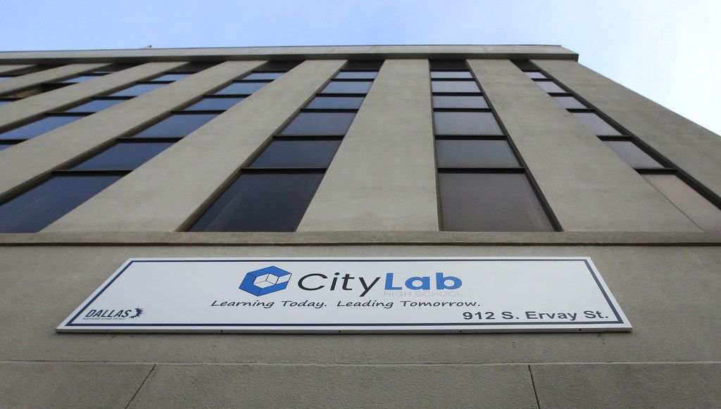 The DISD City Lab High School in the Pegasus Building on South Ervay Street in downtown Dallas.