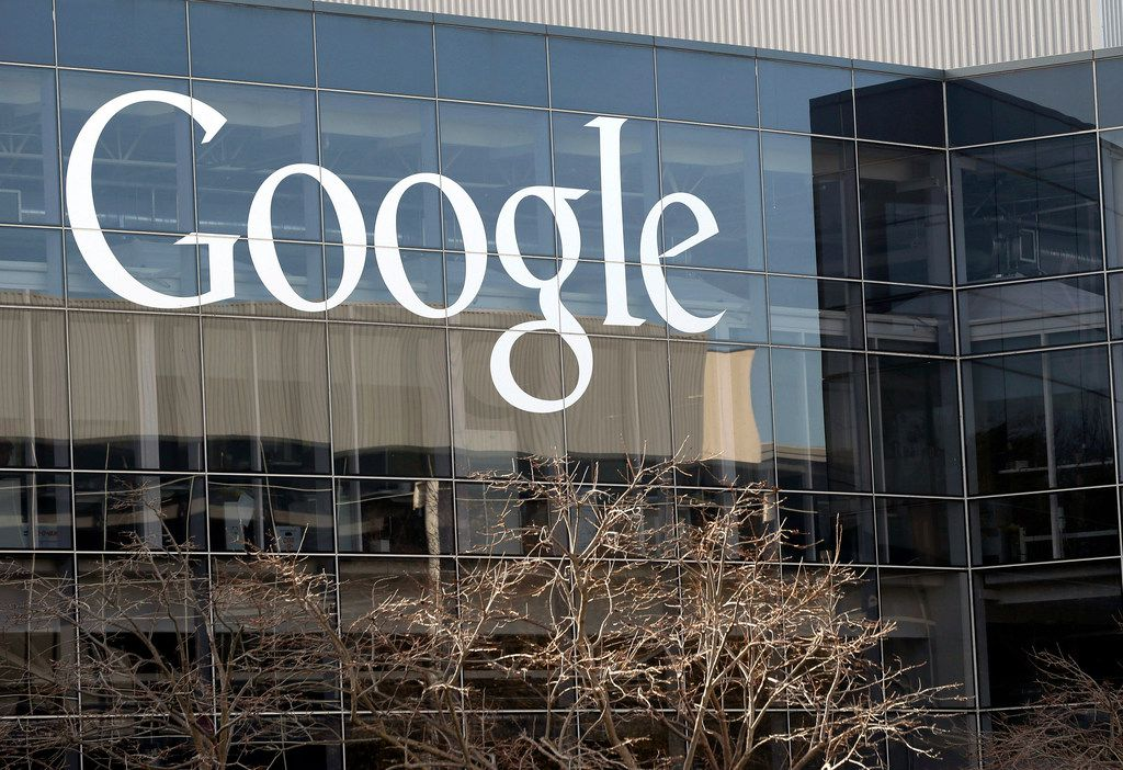 Google's headquarters in Mountain View, Calif.  Two bipartisan groups of state attorneys general are launching separate antitrust investigations into Facebook and Google, Friday, Sept. 6, 2019, adding to regulatory scrutiny of two of the world's largest and most ubiquitous tech companies.