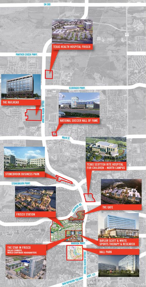 "A new advertisement for the Frisco Economic Development Corp. pitches the ""North Platinum Corridor"" with 10 major projects."