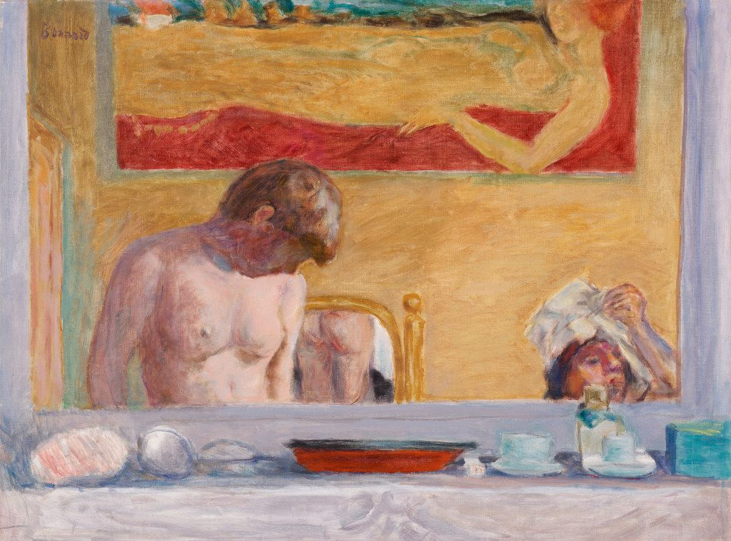 Pierre Bonnard, French, 1867 to 1947, Young Woman at Her Toilette, 1916