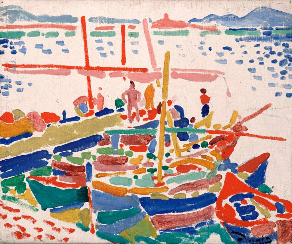Andr  Derain, French, 1880-1954, Fishing Boats at L Estaque, 1906. Dallas Museum of Art, the Eugene and Margaret McDermott Art Fund