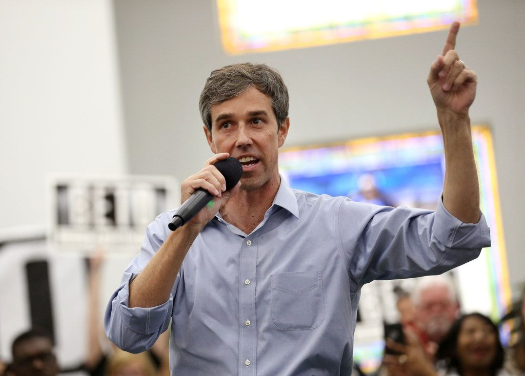 """Democratic Senate candidate Beto O'Rourke has accused Sen. Ted Cruz of being """"all talk and no action."""" (Rose Baca/The Dallas Morning News)"""